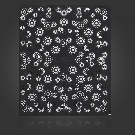 Black White Sun Nail Art Sticker Water Transfer Decals 2021