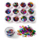 Colorful Alphabet Number Sequins Nail Art Decoration 2021