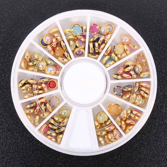 Colorful Pearl Nail Art Decoration Round Wheel 2021