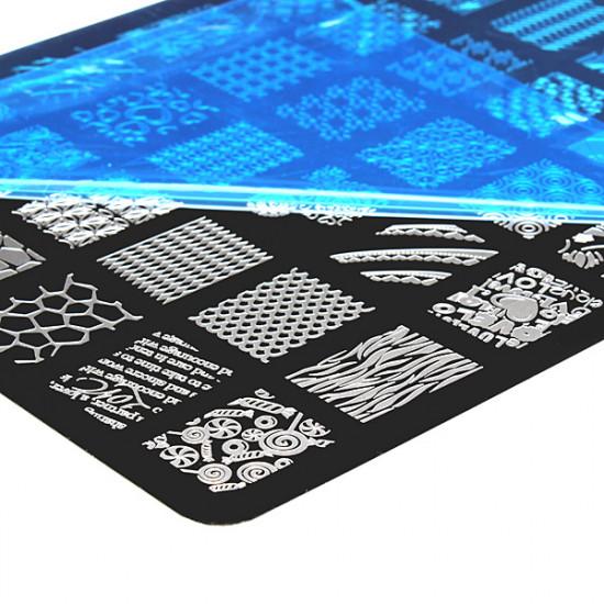 Nail Art Image Printing Plate Polish Stamping Template DIY Tips Design 2021