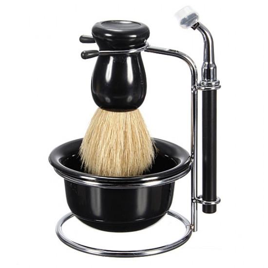 5 In 1 Manual Razor Set Shaving Brush Bowl Stand 5 Blades 2021