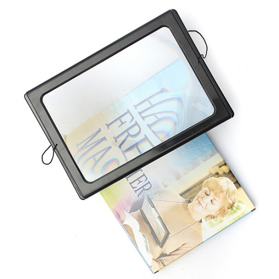 Foldable Full Page Large Magnifier 3X With LED Light For Reading 2021