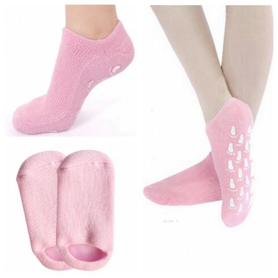 1 Pair Pink SPA Gel Moisturizing Foot Socks Skin Whitening 2021