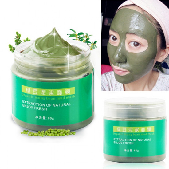 Mung Bean Mud Facial Mask Acne Treatment Blackhead Remover 2021