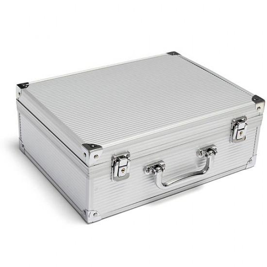 Aluminum Alloy Portable Cuboid Tattoo Carrying Case Lock Tattoo Kit 2021