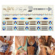 Gold Silver Blue Chain Metallic Temporary Tattoos Body Art Sticker 2021