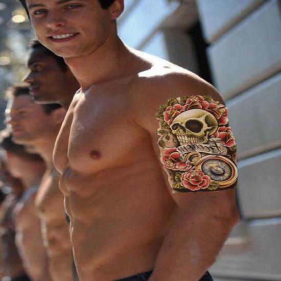Skull Game Waterproof Temporary Arm Tattoo Sticker 2021
