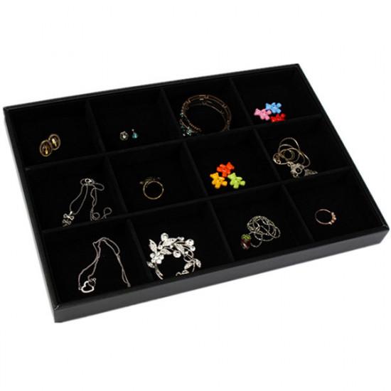 12 Grids Jewelry Display Storage Box Ear Pin Organizer Holder Case 2021