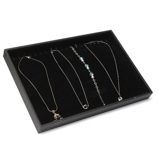 20 Grids Necklace Bracelet Jewelry Dispaly Storage Box Showcase Tray 2021