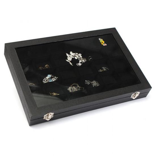 30 Grids Jewelry Tray Storage Box Necklaces Earrings Bracelets Showcase 2021