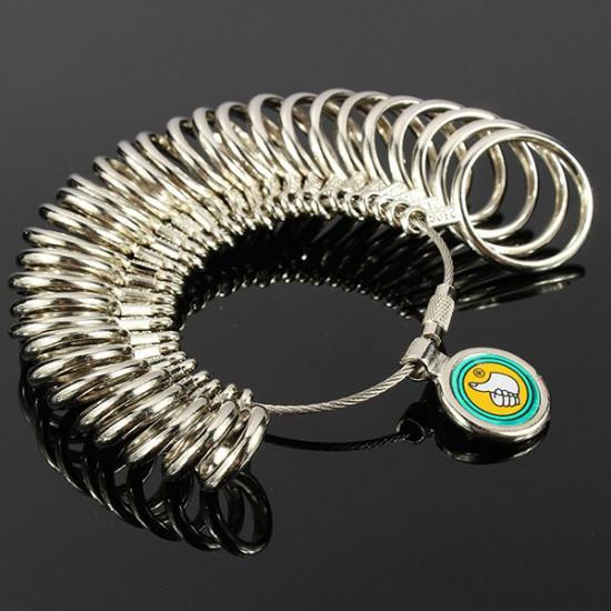 31pcs Metal Finger Ring Sizer Tool Jewelry Measure Gauge Tool 2021