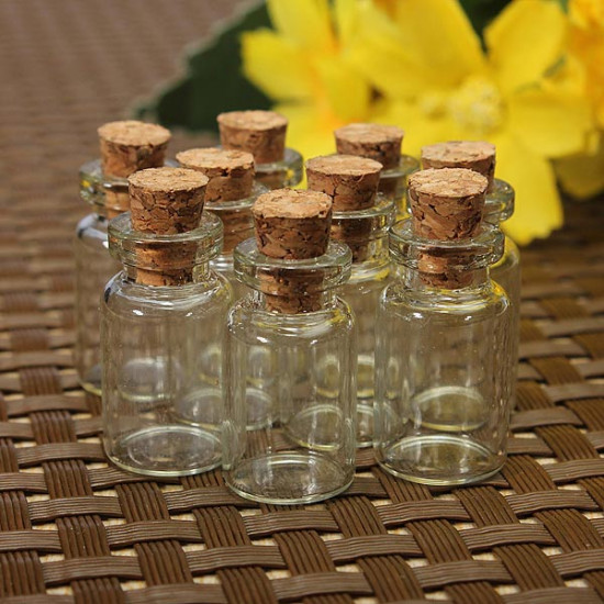 50Pcs Clear Empty Cork Wishing Glass Bottles Vial For Gifts 2021