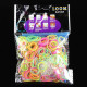 600Pcs Colorful Glow In The Dark Rubber Bands Loom With Clips Hook 2021