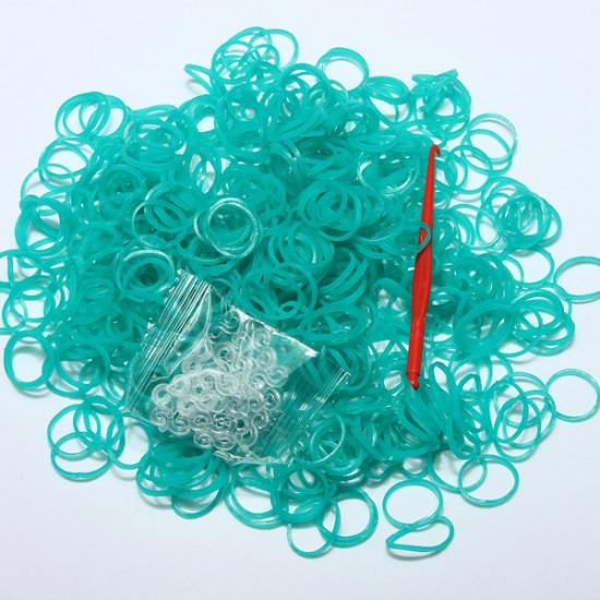 600Pcs Colorful Jelly Loom Rubber Bands With Clips Hook DIY Bracelet 2021