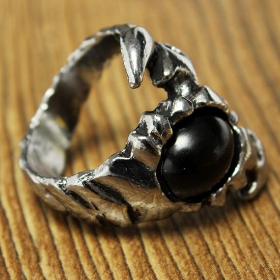 Vintage Jewelry Black Scorpion Titanium Steel Ring For Men 2021