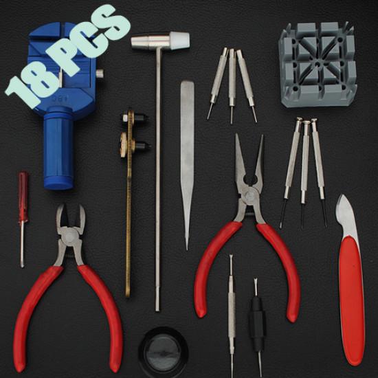 18 pcs Watch Repair Tool Kit Set Case Opener Pin Remove 2021