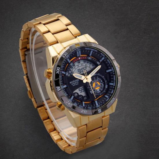 AMST 3009 Stainless Steel Analog Digital Double Display Wrist Watch 2021