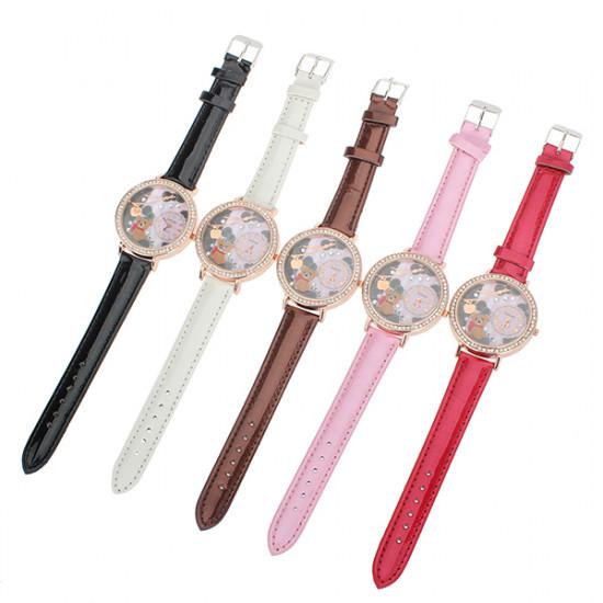 Diamond Cute Bear Wrist Watch 2021