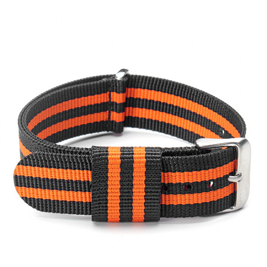 Fashion 20mm Multi-color Nylon Stainless Steel Buckle Watch Band 2021