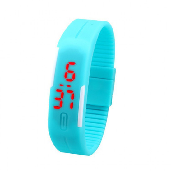 Fashion Touch Screen Waterproof Candy Color Sport LED Watch 2021