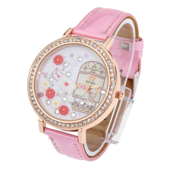 Heart Garden Flower Dial Watch 2021