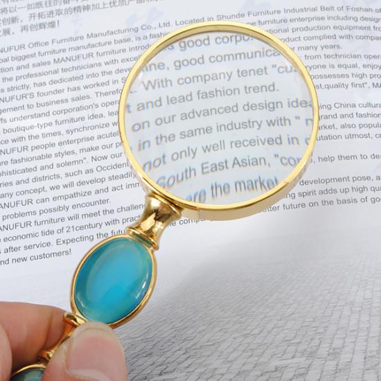 High-class 5x Imitation Jade Reading Hand Held Magnifier 52mm 2021