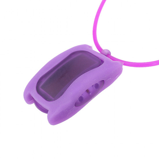 Jelly Sport LED Digital Fashion Cube Children Wrist Necklace Watch 2021