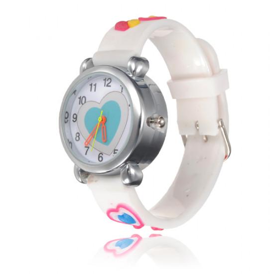 Kid Heart LED Light Wrist Watch Random Color 2021