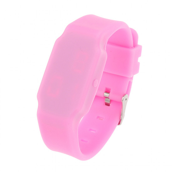 LED Digital Ultra Thin Rubber Square Colorful Children Wrist Watch 2021