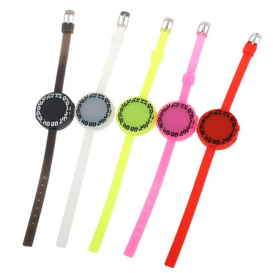 LED Silicon Electronic Round Sport Children Women Wrist Watch 2021