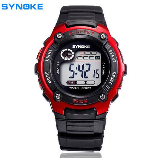 SYNOKE 99589 LED Luminous  Alarm Waterproof Sport Watch 2021