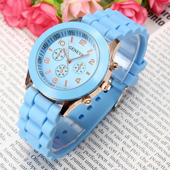 Silicone Jelly Candy Analog Quartz Sports Women Wrist Watch 2021