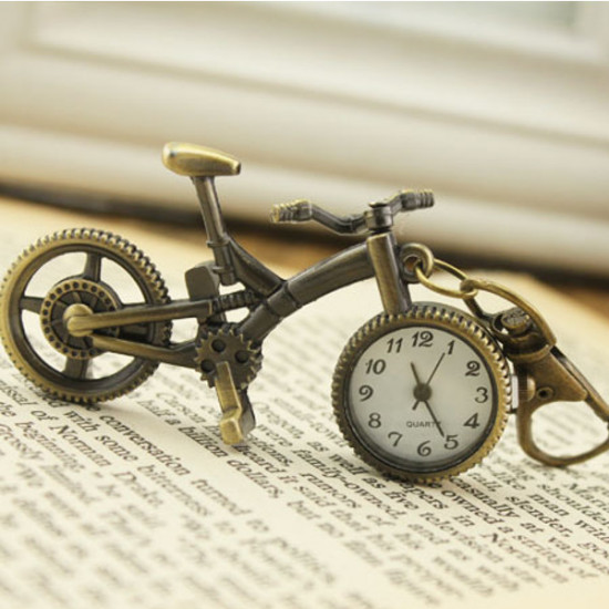 Vintage Bicycle Shape Alloy Chain Pocket Watch 2021