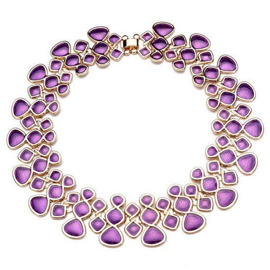 Bib Enamel Bubble Statement Collar Necklace For Women Gold Plated 2021