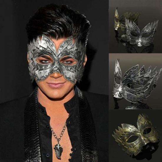 Men Vintage Jaggedly Engraved Eye Mask Venetian Masquerade Mask 2021