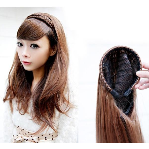 Buy Women Hair Wigs Long Wavy Braid Hoop