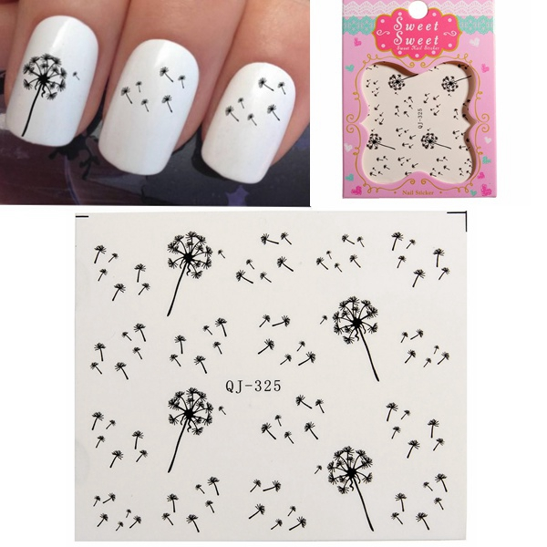 Buy Dandelion Design Water Transfer Nail Art Sticker Decal   Crea ...