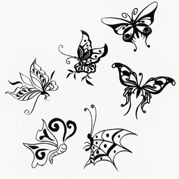 Buy Butterfly Design Insect Waterproof Temporary Tattoo Sticker ...