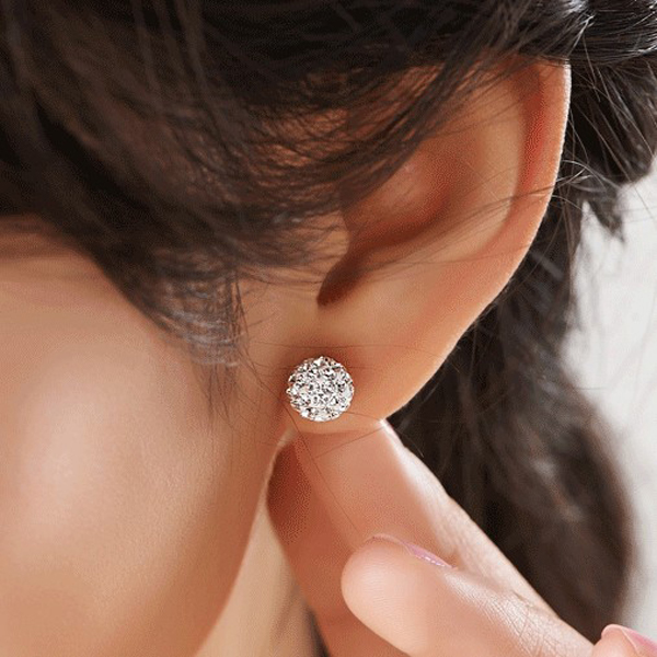 mm diamond stud cut asp earrings ball p sterling silver