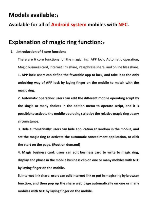 Buy Intelligent Magic NFC Smart Ring For NFC Android Mobile Phone