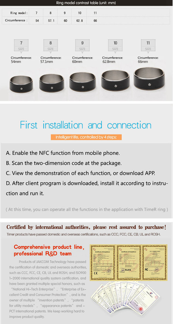 Buy Intelligent Magic NFC Smart Ring For NFC Android Mobile