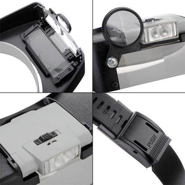 K 246 P 10x T 228 Nde F 246 Rstoringsglas Headset Led Pannband Lupp